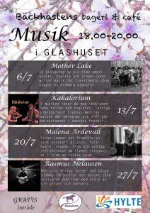 Musik i glashuset i Bäck, med Ramus Nelausen